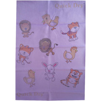 Quick Dry Bed Protector Printed - 620 S Lilac