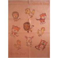Quick Dry Bed Protector Printed - 620 S Peach