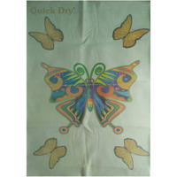 Quick Dry Bed Protector Printed - 623 S Sea Green