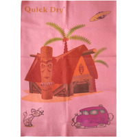 Quick Dry Bed Protector Printed - 626 S Salmon Rose