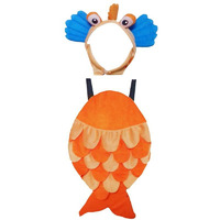 Pink Apricot Water Aquatic Animal Orange Fish Party Cosplay Halloween Costume