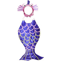 Pink Apricot Aquatic Animal Purple line Fish Party Cosplay Halloween Costume