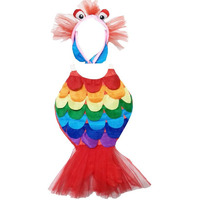 Pink Apricot Water Aquatic Animal Rainbow Fish  Party Cosplay Halloween Costume