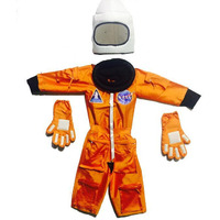 Pink Apricot Orange Astronaut space suit  costumePilot Halloween Masquerade