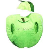 Pink Apricot Kids Halloween Outfit 2019 Yellow Apple Fruit Halloween Costume