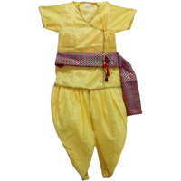 Pink Apricot Kids Krishna Janamasthmi Dress with dupatta Costume for Kids