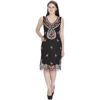 She24Thread Embroidered Black /Beige Gatsby Flapper Dress