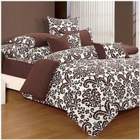 Chocolate Baroque Bed Sheet - Shades of Paradise (D. No.9009)|Fitted best thread count bedsheet pure cotton| fast delivery|bed cover bedsheet Thread count-800