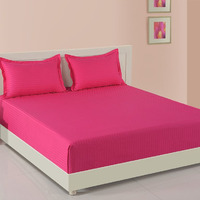 Sonata Tango: Indian Pink|Fitted best thread count bedsheet pure cotton| fast delivery|bed cover bedsheet 100% Cotton (1000 TC)