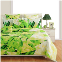 Green Diamond Zinnia Collection - 1771|King size Bed Sheet Bed Cover Bed Spread 800 TC,5 Pillow Set| fast delivery|100% Cotton