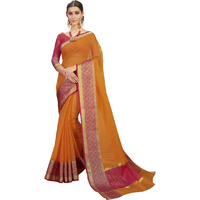 Triveni Mustardcolour Cotton Festival WearSarees