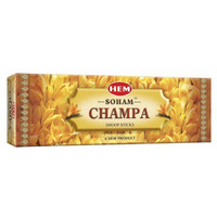 Hem Soham Champa Dhoop Sticks (Pack of 12)