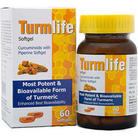 Turmeric Curcumin -Turmlife Softgel - Curcuminoids with Piperine Softgel (60 Softgels)