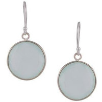 Sterling Silver Circular Drop Earrings By Silvermerc Designs
