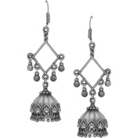Beautiful & Silver Plated Jhumka Earrings By Silvermerc Designs