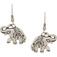 Classic  Elephant Designs Silver Plated Drop Earrings By Silvermerc Designs