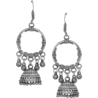 Beautiful Silver Plated Jhumka Earrings By Silvermerc Designs