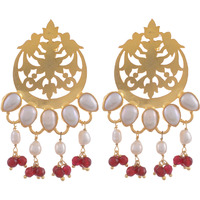 Gold Plated, Fresh Water Pearls Classic Designs Drop Earrings By Silvermerc Designs