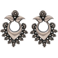 Beautiful & Floral Design Silver Studs Earrings By Silvermerc Designs