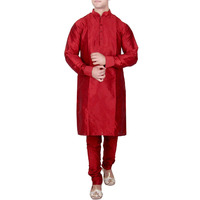Red Silk Kurta Pajam ...