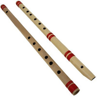 Winmaarc Indian Bamboo Flute Transverse and Fipple High Frequency Notes Set of 2
