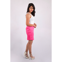 Pink Flamingo Clothing Pink Floral Pencil Skirt