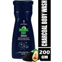 UrbanGabru Charcoal Body Wash With Avocado & Indian Alkanet Root - Activated Charcoal Shower Gel, 200 g