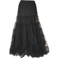 Gothic Long Skirt Pu ...