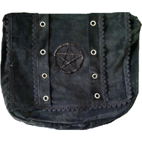 Gothic Victorian Renaissance Girls Punk Vintage Vamp Costume Black College Shoulder Bag