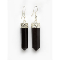 black aggite (earring)