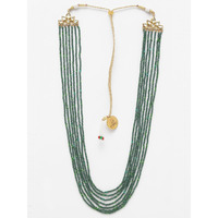 Emerald Multi LIne Necklace