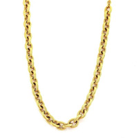 Zivom Classic Matt Finish Etched Italian Rope Chain Long 23.5