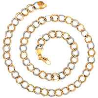 Zivom Honey Singh Links Gold Rhodium Plated Brass Short Chain 18   For Men
