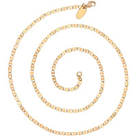 Zivom Italian Slim Mariner 22K Gold Plated Unisex Chain 19.9