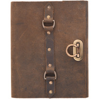 Finished Leather With Lock Journal Diary Notebook Christmas Gifts