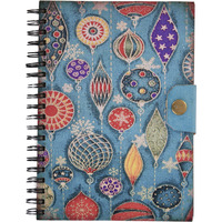 Star Print Wiro Binding Journal Diary Notebook Christmas Gifts With Button
