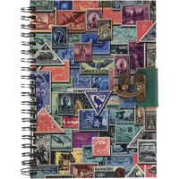 Stamp Print Wiro Binding Journal Diary Notebook Christmas Gifts With Lock