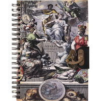 Atlas Print Wiro Binding Journal Diary Notebook Christmas Gifts With Lock