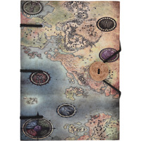 Map Print Special Binding With Button Handmade Journal Diary Notebook Christmas Gifts