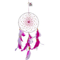 Pink & Lavender Medium Dreamcatcher Wall Hanging Handmade Feathers Decoration
