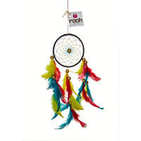 Rastafarian Dreamcatcher Wall Hanging Handmade Feathers Decoration