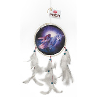Angel And Unicorn Canvas Dreamcatcher Wall Hanging Handmade  Feathers Decoration