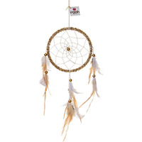 Gold Velvet Dreamcatcher Wall Hanging Handmade Feathers Decoration