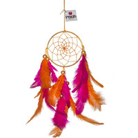 Orange And Pink Hanging Dreamcatcher Feathers Decorations