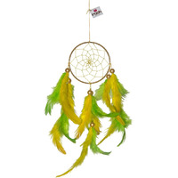 Green And Yellow Hanging Dreamcatcher Decorations