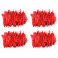 Natural Beautiful Po4 Red Feathers 40X4