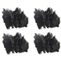 Natural Beautiful Po4 Black Feathers 40X4