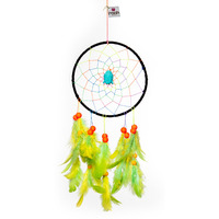 Psychedelic Neon With Blue Buddha Medium Dreamcatcher
