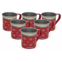 Indian Traditional Antique Tea Cups Mug Coffee Drinkware  Set Of 6