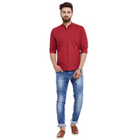 Mens Mahroon Cotton  ...